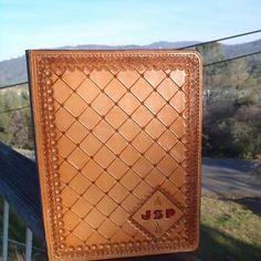 Tooled Leather Ipad case by FeatherRiverLeather on Etsy, $75.00