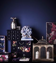 A selection of objet d'art from the Midnight Bloom collection