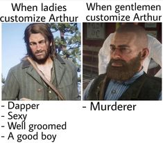 is it me or he really look dead inside in the right pic ( Gamer Humor, Gaming Memes, Star Citizen, Red Dead Redemption Game, John Marston, Read Dead, Red Dead Online, Rdr 2, Dead Memes