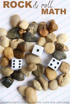Use dice and rocks in this rock and roll place value math activity that kids will love for working on several math concepts. Math Activities For Kids, Fun Math Games, Math For Kids, Kindergarten Math, Teaching Math, Preschool Activities, Teaching Ideas, Teaching Reading, Maths