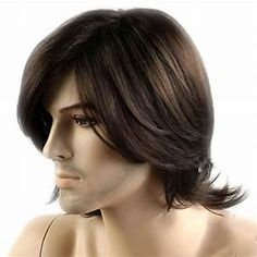 Mens Short Dark Brown Wigs Short Wigs Middle Age Wigs Lace Wigs Hair Wigs ** Click image for more details. (This is an affiliate link) Hair Wigs For Men, Human Hair Wigs, Fringe Hairstyles, Hairstyles With Bangs, Natural Hair Wigs, Natural Hair Styles, Wig Styles, Short Hair Styles, Colored Wigs