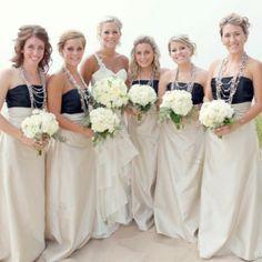 My girls :) bridesmaid dresses, bridesmaid jewelry