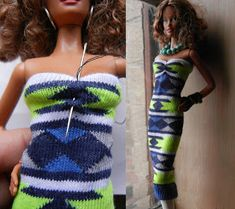 Fashion Doll Stylist: May 2017 Sewing Barbie Clothes, Barbie Dolls Diy, Barbie Clothes Patterns, Barbie Doll House, Crochet Doll Clothes, Barbie Dress, Clothing Patterns, Diy Clothes, Barbie Stuff