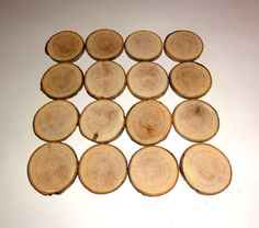 16 rustic 2.3 inch wood slices wooden slices tag by NayasArt