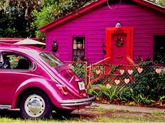 Hot Pink House by Ann Strickland, on Amelia Island, Fla. (http://www.flickr.com/photos/arsatty/1163887135/)