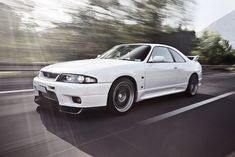 Beautiful White NISSAN GT-R R33
