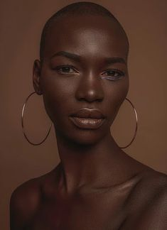Marie Graobe - Google Search Pretty People, Beautiful People, Model Tips, Photographie Portrait Inspiration, Dark Skin Makeup, Dark Skin Beauty, Natural Makeup, Black Girl Aesthetic, Photoshop