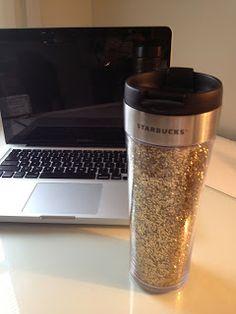 Emma Courtney: DIY Starbucks Sparkle Travel Mug Starbucks Tumbler, Craft Stores, Fun Crafts, Coffee Cups, Christmas Crafts, Diy Projects, Sparkle, Tableware, Lifestyle