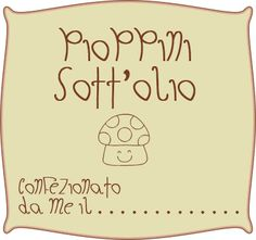 Pioppini Sott'olio - Etichetta stampabile free