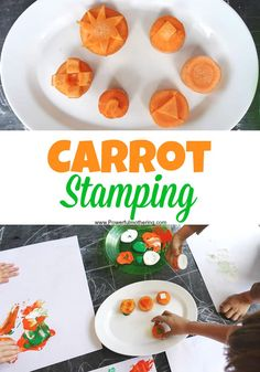 super sensory ideas for the entire year! Just like this awesome carrot stamping.