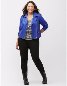 fa4a64f2b67 Moto jacket with hardware by Lane Bryant