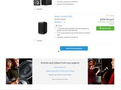 Risultati immagini per compare product button ux design Bookshelf Speakers, Product Page, Ux Design, Ads, Button, Table, Tables, Desk