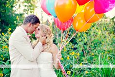 Love the pop of color! Can't go wrong with balloons!