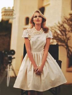Ester lets find you this dress! High Society by Steven Chee styled by Jesse Hart and featuring Teresa Palmer for Shop till you drop AU Jan 2011 Teresa Palmer, Vogue, Old Hollywood Glamour, Vintage Glamour, Classic Hollywood, Ivory Dresses, Elegant Dresses, Up Girl, Dress To Impress