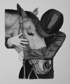Horse and rider, equestrian art, equine art, fine art print. perfect gift for an equestrian. click on link to purchase. great gift for the horse lover.