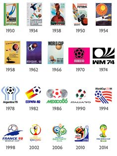 All world cup logos ever #brasil #2014