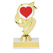"""5 1/2"""" Trophy with Ribbon Design Award Plaques, Ribbon Design, Valentines"""