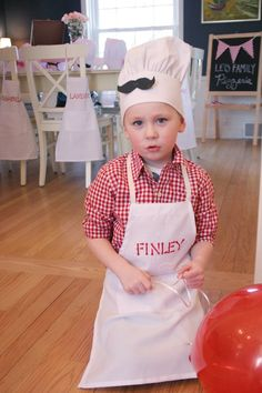 Pizza Chef themed birthday party with Lots of Fun Ideas via Kara's Party Ideas