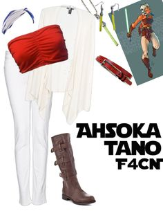 Sorry for the delay!!  Up first for SWCW March is my favorite female character…Ahsoka Tano!!  Even though she is not part of the 'original' star wars trilogy I still LOVE her! This outfit right here is inspired by her season 1 and season 2...
