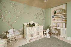 New baby girl nursery paint colors trees ideas