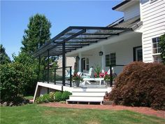 pergola with glass roof outdoor goods Wood Pergola, Deck With Pergola, Pergola Plans, Diy Pergola, Retractable Pergola, Privacy Walls, Pergola Curtains, Roof Plan, Glass Roof