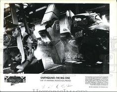 1990 Press Photo Riders Universal Studios The Big One  - orb09139