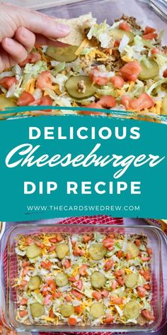 Get a new VELVEETA dip recipe with this Easy Cheeseburger Dip from The Cards We Drew! Using ground beef, cheese, and all your standard cheeseburger toppings this makes a delicious grilling appetizer for any time of the year! #velveeta #cheeseburger #hamburger #grilling Dip Recipes, Snack Recipes, Dinner Recipes, Velveeta Dip, Yummy Food, Tasty, Low Carb Diet, Appetizers For Party, Ground Beef