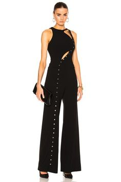 Technical Cady & Metal Jumpsuit in Black Multi