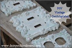 DIY Vintage Switchplates