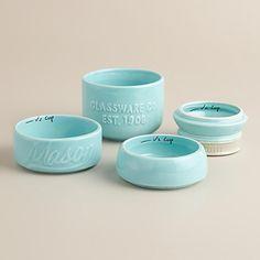 Mason Jar Measuring Cups (Blue)