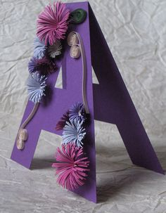 cool quilled letter A