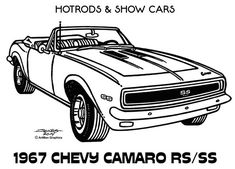 Line Illustrations - Hot Rods & Show Cars by James Jones, via Behance Cars Coloring Pages, Coloring Book Art, Free Coloring, Classic Cartoon Characters, Classic Cartoons, Mustang Drawing, Car Drawing Pencil, Line Illustration, Illustrations