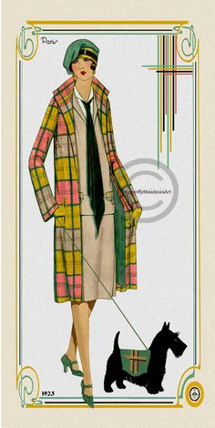 Hey, I found this really awesome Etsy listing at https://www.etsy.com/listing/210433771/art-deco-coat-fashion-print-flapper-girl