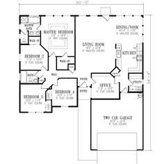 149 Best house planning images | House floor plans, House ... Ranch House Plans Square Foot on