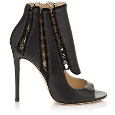 JIMMY CHOO Kia 110 Black Leather And Suede Booties. #jimmychoo #shoes #s