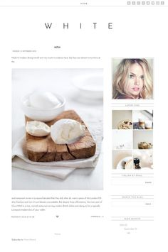 Premade Blogger Template  White Blogger Design  by ReinaAndrews