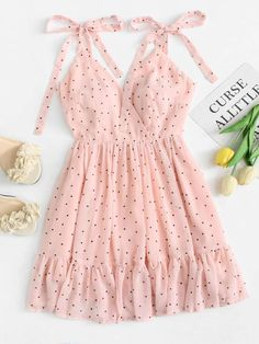 59 Ideas Clothes For Women Style Polka Dots Cute Summer Outfits, Girly Outfits, Cute Casual Outfits, Pretty Outfits, Dress Outfits, Summer Dresses, Stylish Outfits, Winter Outfits, Girls Fashion Clothes