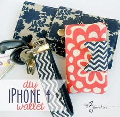 Quick DIY Gifts You Can Sew - DIY Iphone Wallet Tutorial - Best Sewing Projects for Gift Giving and Simple Handmade Presents - Free Patterns and Easy Step by Step Tutorials for Home Decor, Baby, Women, Kids, Men, Girls http://diyjoy.com/quick-diy-gifts-sew