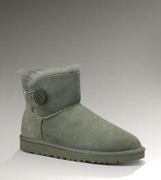 Ugg Womens Mini Bailey Button 3352 Short Boots Grey