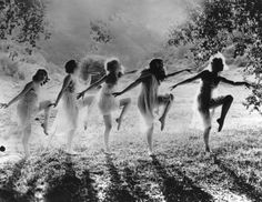 A group of women dancing in the open air,1924