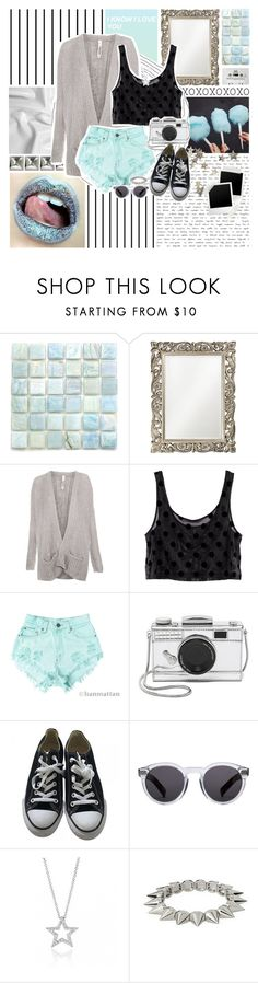 """Moonage Daydream- David Bowie"" by charcharr ❤ liked on Polyvore featuring Forum, Grandin Road, CASSETTE, Pull&Bear, H&M, Levi's, Kate Spade, Converse, Illesteva and Bling Jewelry"