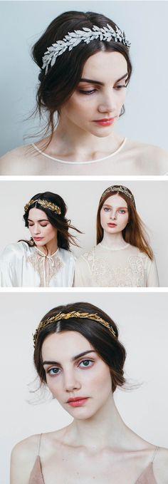 Wedding headpieces by Jennifer Behr - use these to complete your wedding hairstyle, whether your wearing an updo or leaving your hair down.