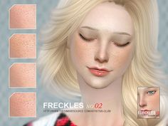 The Sims Resource: Freckles 02 by S-Club • Sims 4 Downloads
