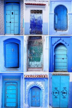 Chefchaouen in Morocco, check out our other post about this city, it is all painted blue! Blue City of Morocco