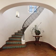 Stairwell in entry of spanish colonial home. gorgeous.