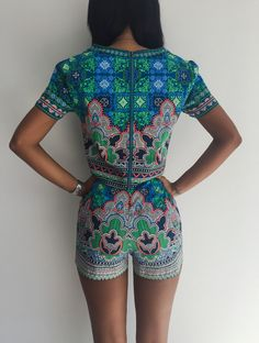 New-Arrival-2015-Summer-Style-Women-Two-Piece-Crop-Top-Shorts-Set-Digital-African-Print-Jumpsuit.jpg (744×986)