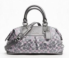 3979217c9fe Authentic RARE NWT Coach Ashley 3 Color Signature Large Satchel from Floral  Bliss Treasures