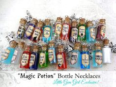 Unicorn Tears Bottle Necklace Real Moving Liquid Glass