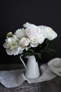 white peonies…so gracious and graceful