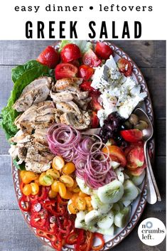Tips With Teri – Chicken Mediterranean Salad – Inspiration for Everyday Food Made Marvelous Cooking Recipes, Healthy Recipes, Vegetarian Cooking, Easy Cooking, Vegetarian Barbecue, Cooking Pork, Paleo Food, Italian Cooking, Snacks